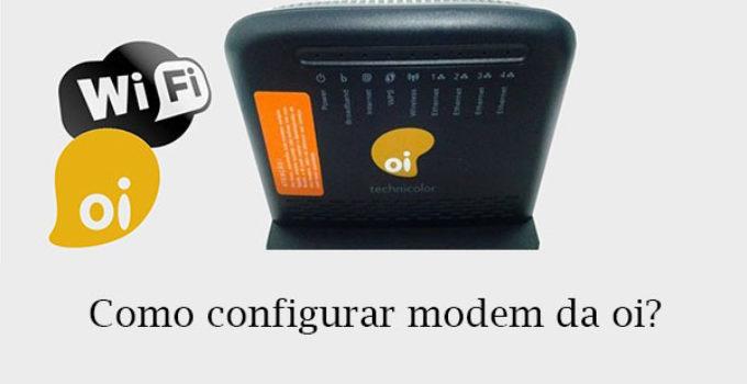 Configurar modem oi
